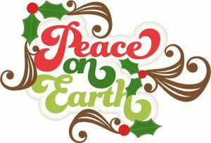 Peace clipart cute Silhouette Christmas Peace #71160: