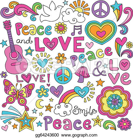Peace Dove clipart groovy Signs dove doodles Illustration love
