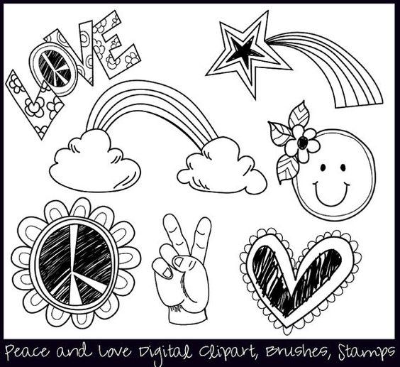 Peace clipart doodle ColorsonPaper Clip $4 00 Elements