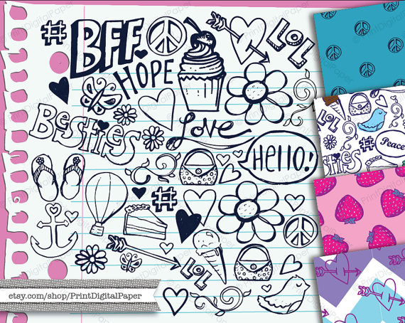 Peace clipart doodle Doodles Clipart Doodles tween Download