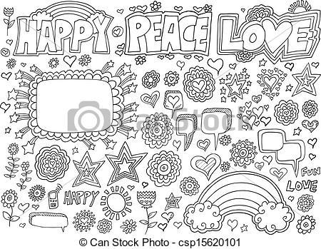 Peace clipart doodle Peace Vector Peace Clipart of