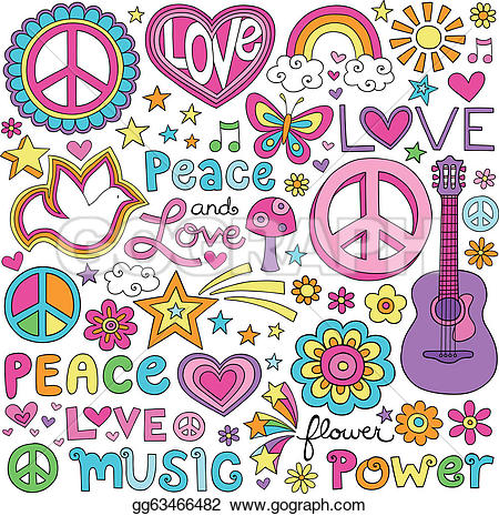 Peace clipart doodle Gg63466482 notebook Stock doodle music