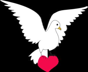 Peace clipart dove Vector at Peace Clker Clip