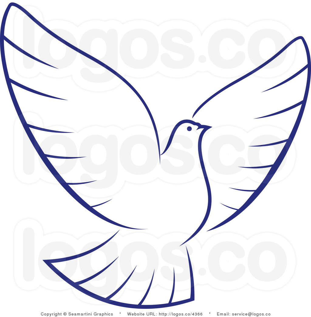 Peace Dove clipart dove outline #5