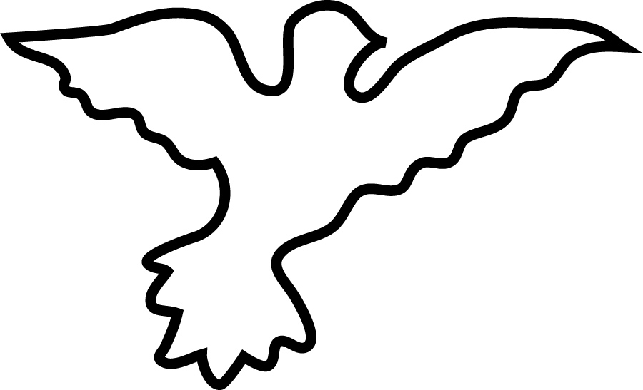 Pigeon clipart dove outline Free Art Outline Clip on