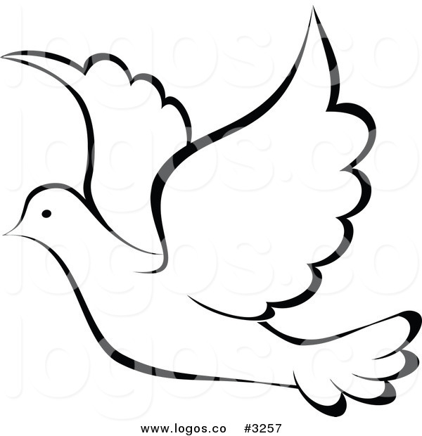 Turtle Dove clipart flight sketch #6