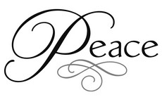 Peace clipart faith Images Cursive Faith Word Peace