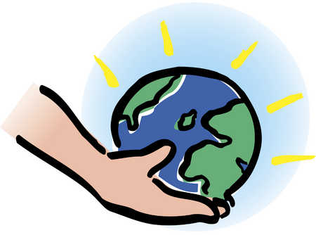 Peace clipart global issue Globe Hand Illustration Hand In