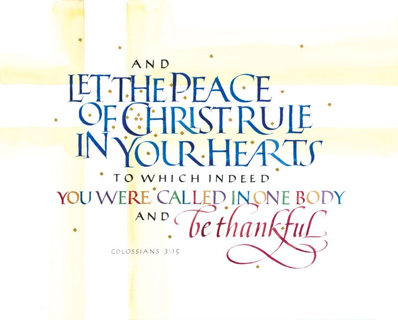 "Peace clipart god's word "" 3 by Timothy Calligraphy"
