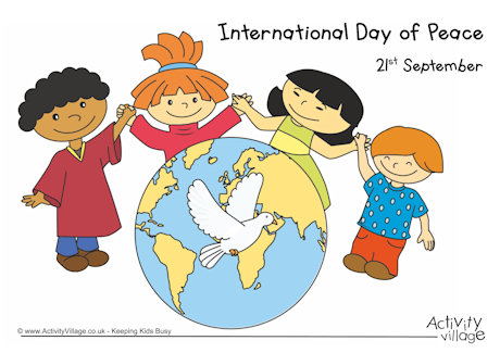 Peace clipart group person holding hand Of Day Poster Peace International