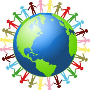 Peace clipart group person holding hand Pinterest around People hands world
