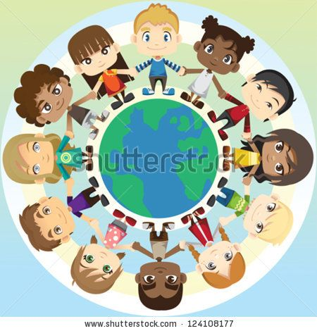 Peace clipart group person holding hand Stock of holding illustration ethnic