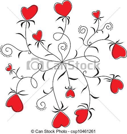 Peace clipart heart flower Peace border  Clipart flower