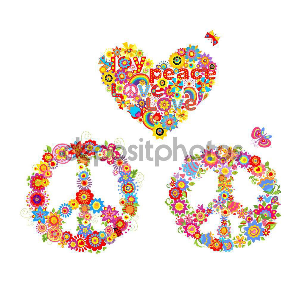 Peace clipart heart flower And heart with with