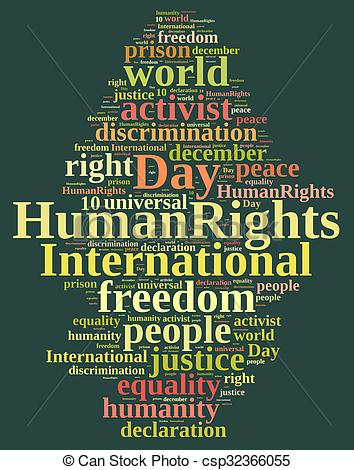 Peace clipart human rights day Of Day Human Rights csp32366055
