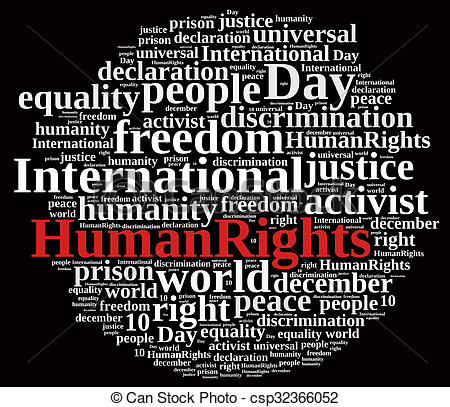 Peace clipart human rights day Of Day Human Rights csp32366052