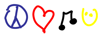 Peace clipart love and happiness  Love Happiness Peace Music