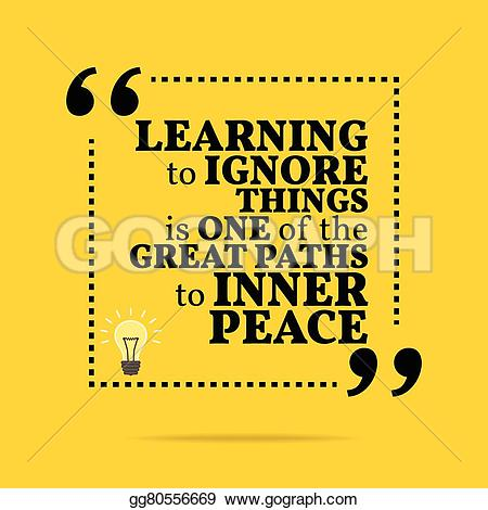 Peace clipart one Inner to learning is paths