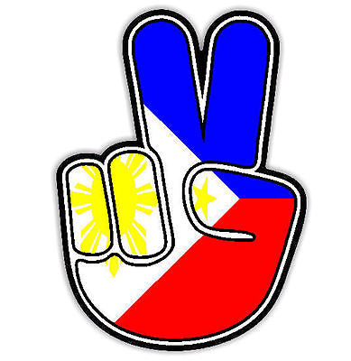 Peace clipart philippine Sign Philippines Car Flag Sticker
