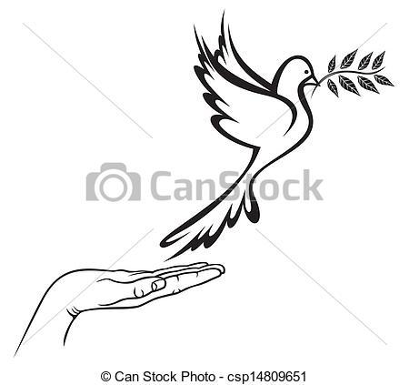 Peace clipart pigeon peace Dove Peace Peace Vector of