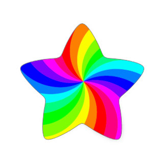 Peace Sign clipart rainbow stars Star sticker Stickers Zazzle rainbow