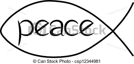 Peace clipart the word Fish of csp12344981 Peace fish