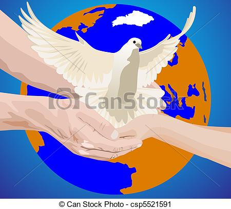 Peace clipart the world drawing The  on csp5521591 Earth