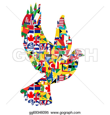 Peace clipart the world drawing Made Clipart of concept Illustration