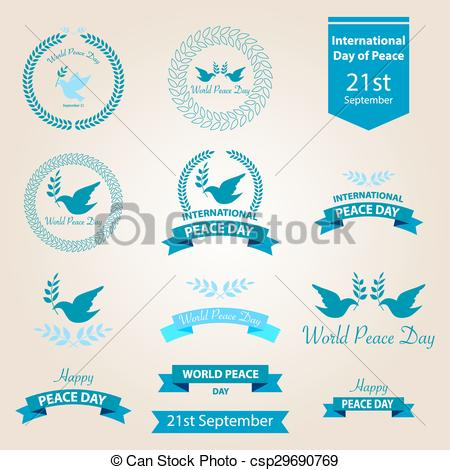 Peace clipart the world drawing  Vector and World day