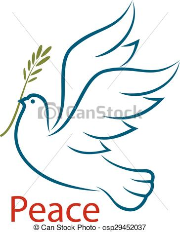Peace clipart unity Flying peace dove olive Dove