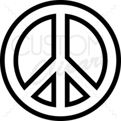 Peace clipart vector Vector By peace Custom symbol