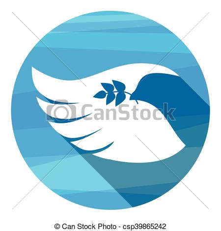 Peace clipart wing White Day Wing Dove Vector