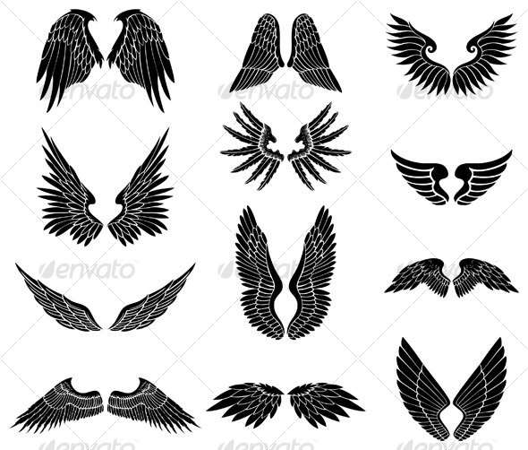 Wings clipart graphic design Wings design wing Wings design