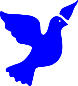 Peace Dove clipart Art Clip Clker Clip Blue