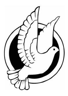Peace Dove clipart coloring page #14