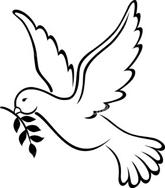 Peace Dove clipart coloring page #11