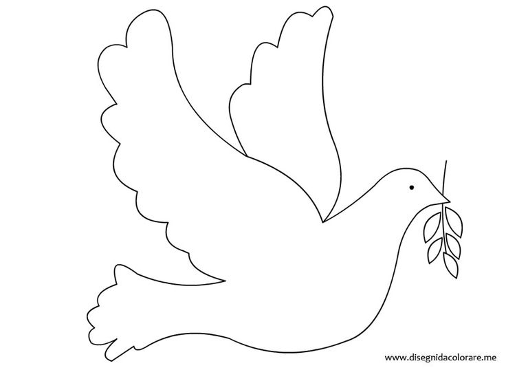 Peace Dove clipart coloring page #12