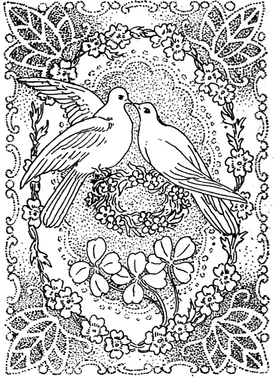 Peace Dove clipart coloring page #13