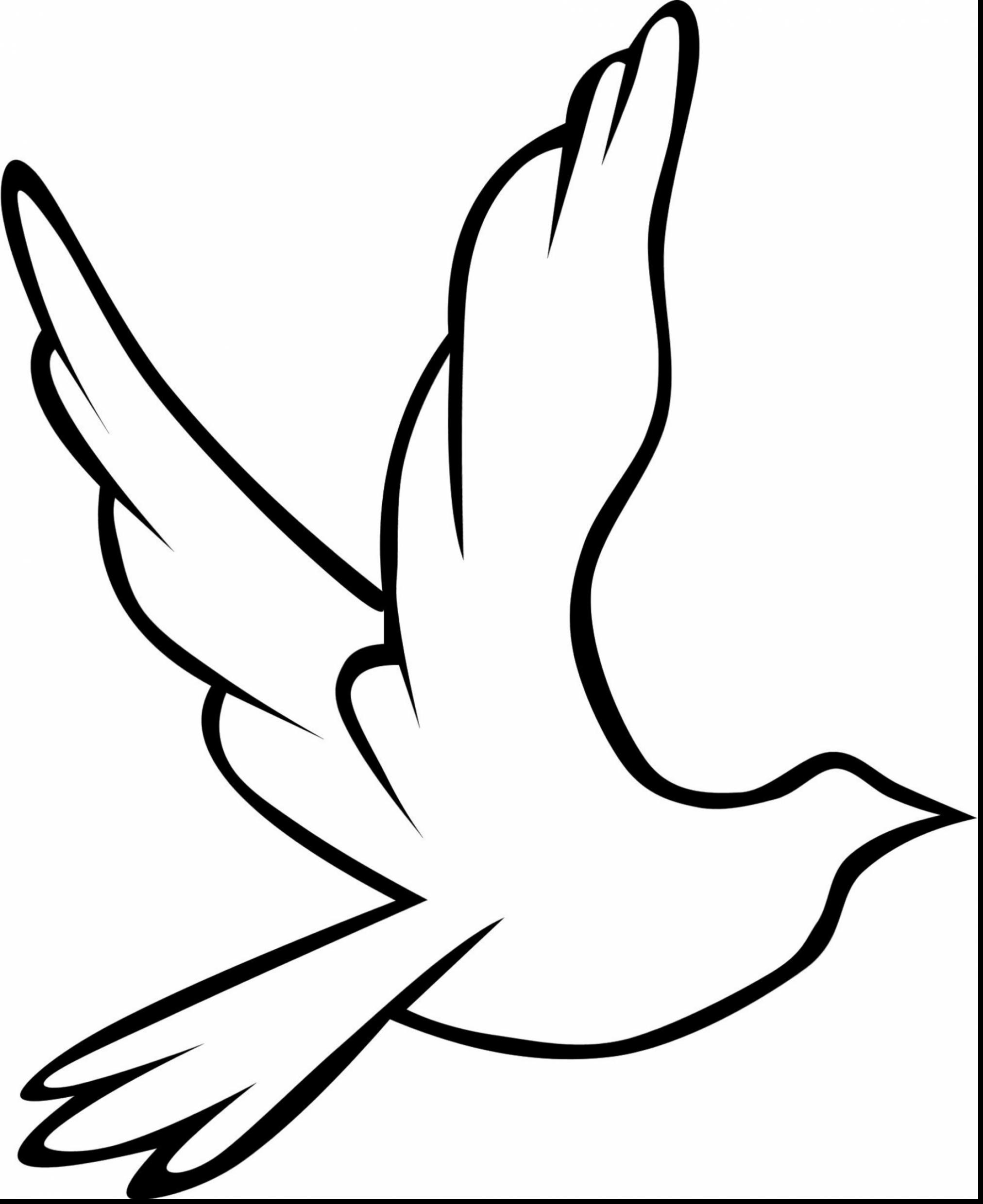 Peace Dove clipart coloring page #6