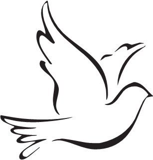 Mourning Dove clipart line drawing Images best holy and Dove