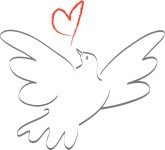 Peace Dove clipart heart #6