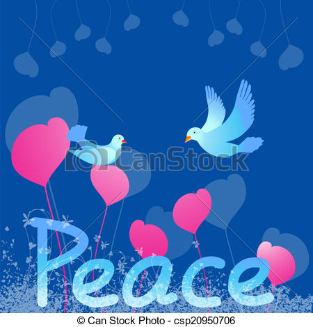 Peace Dove clipart heart #8