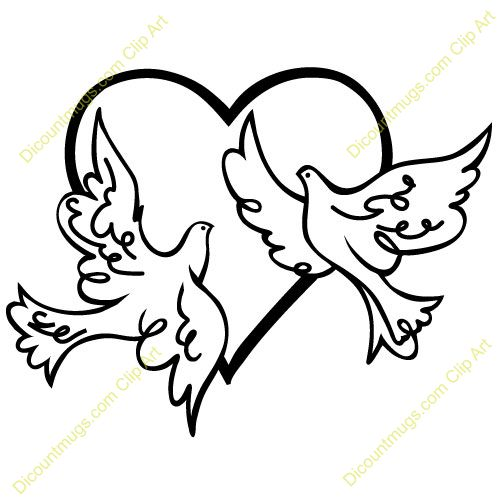 Peace Dove clipart heart #3