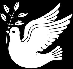 Peace Dove clipart line drawing #9