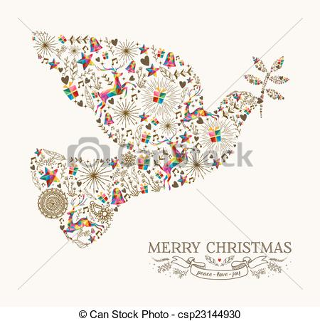 Peace Dove clipart merry christmas #4