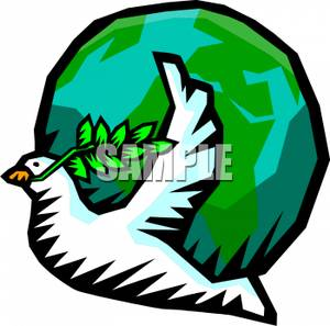 Peace Dove clipart mouth #7