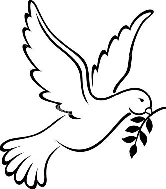 Peace Dove clipart mouth #5