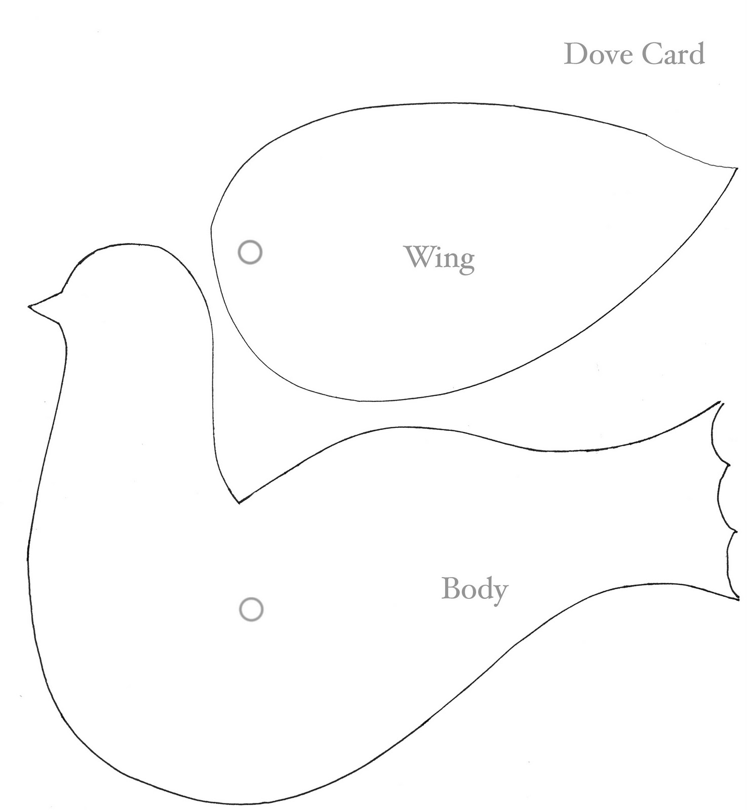 Peace Dove clipart printable Template dove  with paper