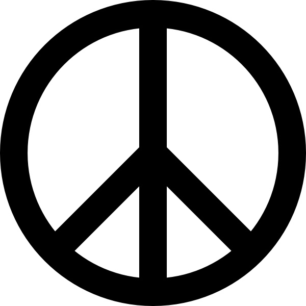 Peace Sign clipart Sign office art clip Free