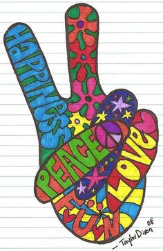 Peace Sign clipart 70's  American Search Psychedelic 70's